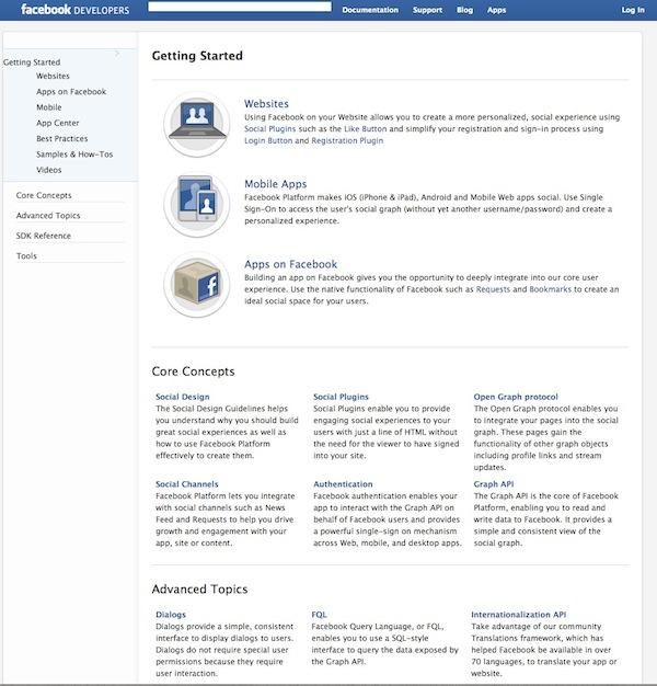 api documentation where to begin rh braintreepayments com Facebook Software Developers Facebook API
