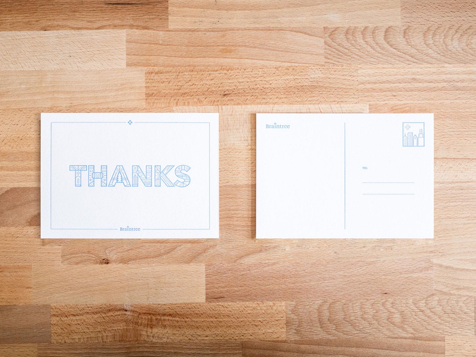 a thank you card